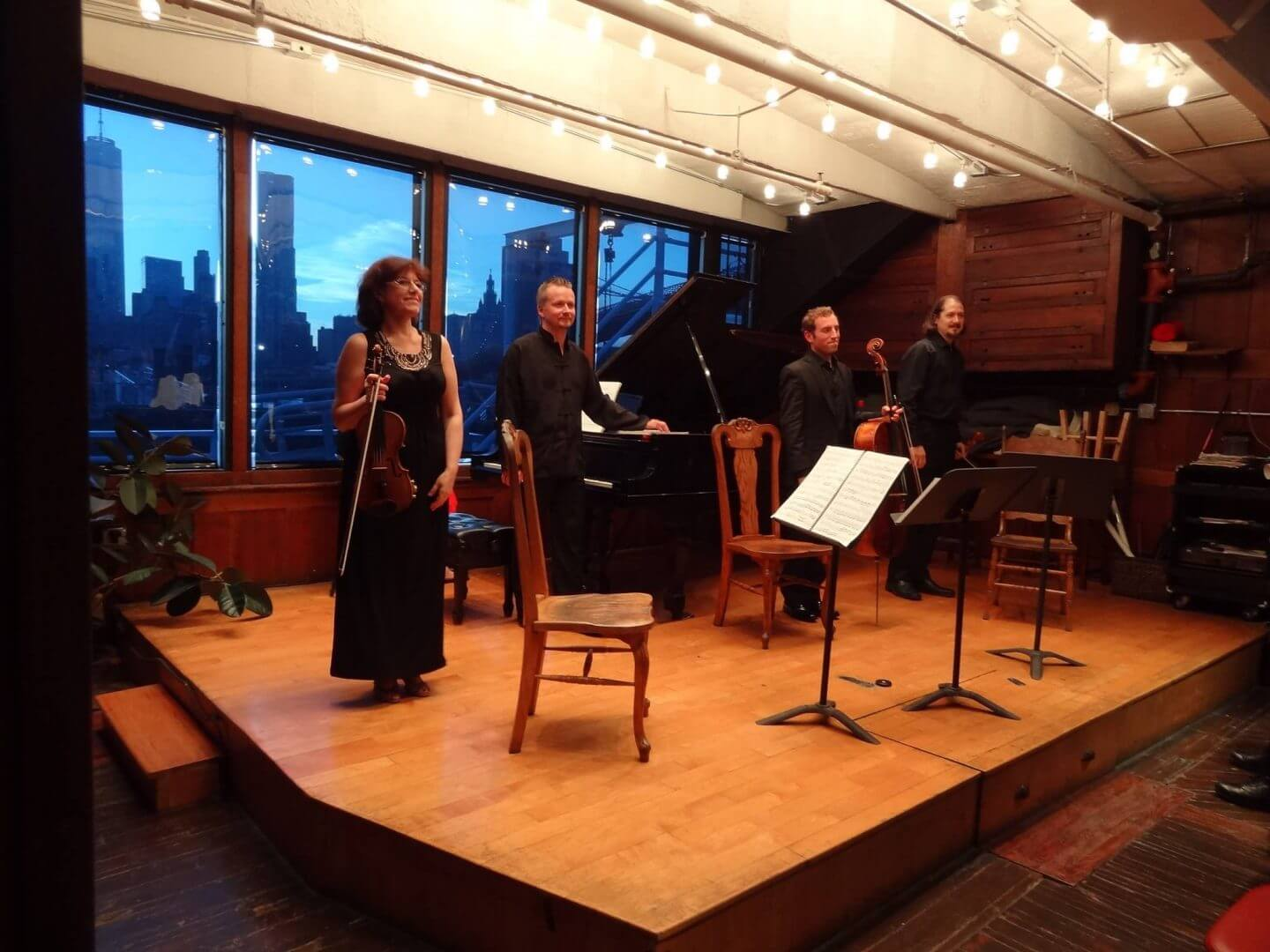 Barge Music night concert with St Petersburg Piano Quartet March Thomas Mesa