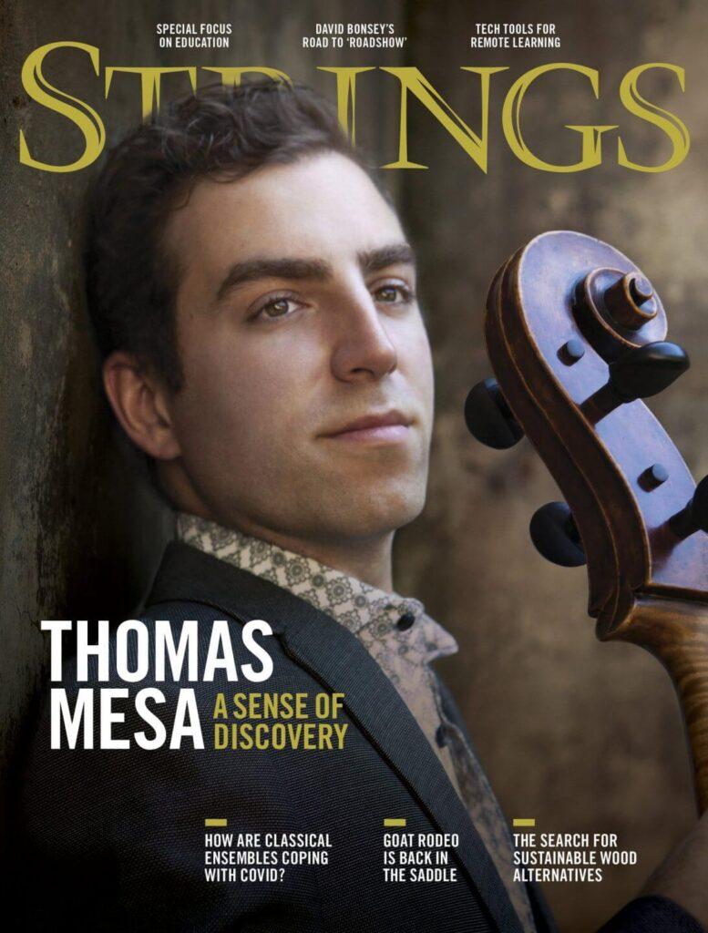 STRINGS MAGAZINE COVER FEATURE Thomas Mesa