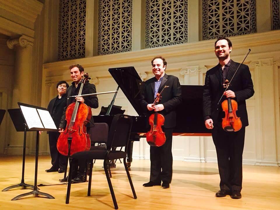 Schumann Piano Quartet with Bela Horvath David Lisker Larry Weng Photo credit Jill Sharon White Thomas Mesa
