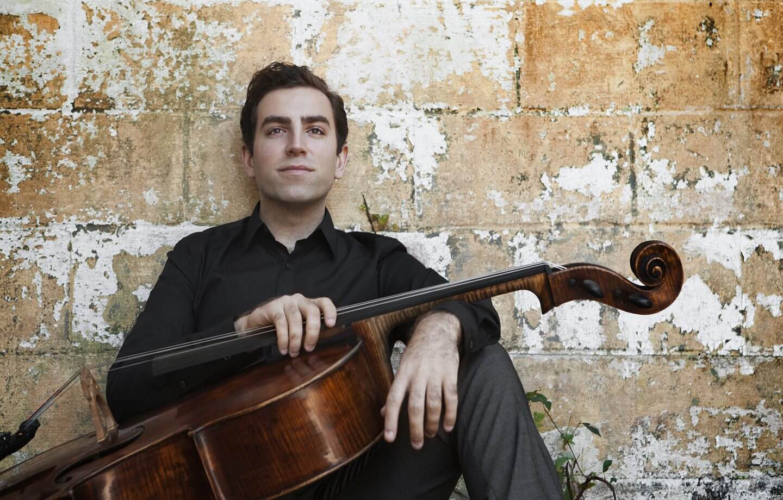 Thomas Mesa with Cello An Ensemble Musician