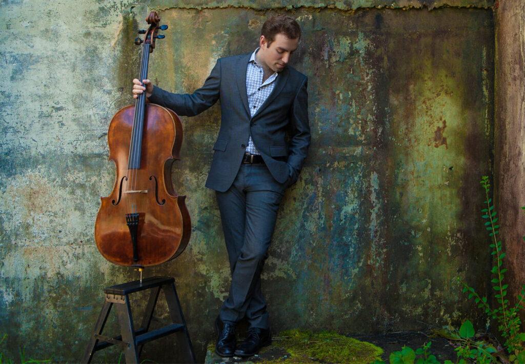 Thomas Mesa with cello