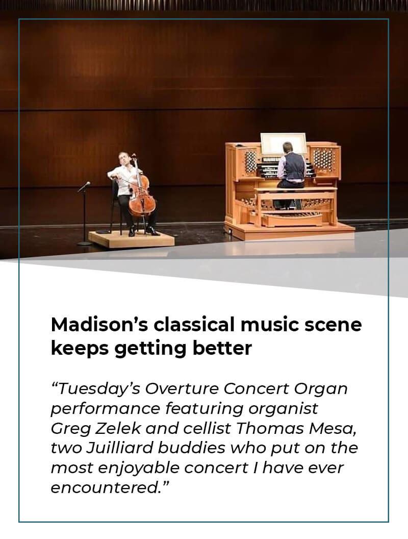 Madisons classical music scene keeps getting better Thomas Mesa