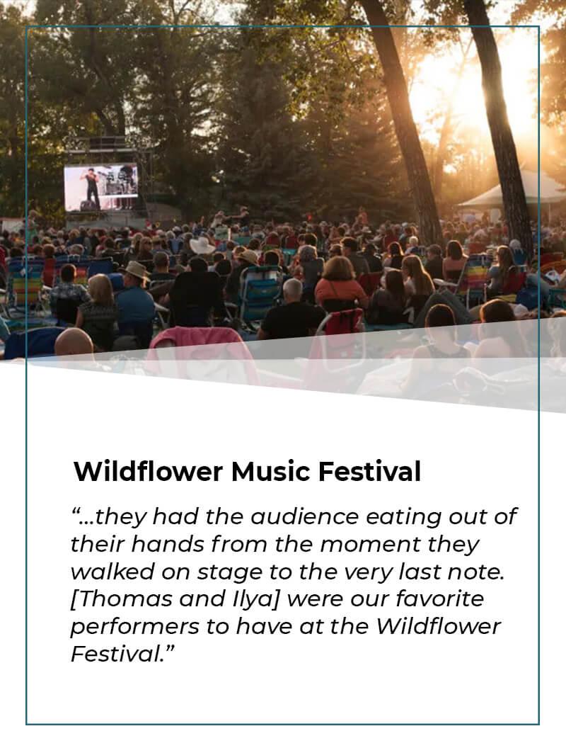 Wildflower Music Festival MESA YAKUSHEV